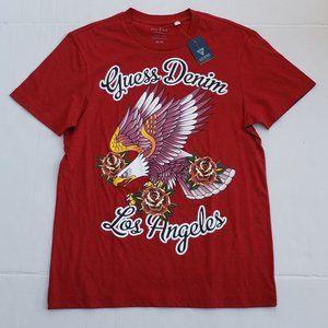 New Men's GUESS Denim LA Eagle Tee Shirt sz M